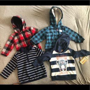 4 fleeces & hoodie